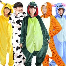 Wholesale Spring and Autumn Unicorn Pajama Sets Cartoon Sleepwear For Men Women  Pajama Flannel Animal Stitch Panda Tigger Pajama(China) a1d20e229