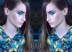Spring/ Summer 2018 Makeup Trends tropical oceans Model Blanka Wasiljew/ mango models  Pic Alex Raynost  Makeup&Hair CecilpkaluzaArt