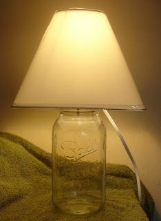 Mason Jar Lamp, fill with something cool, maybe sea glass?