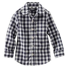 OshKosh B'gosh® Button-Down Gingham Shirt - Toddler