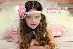 #Valentines #Valentinesday #Vday #Pink #Love #Handmade #Flower #Headband Pink Singed Flower  Valentines Day  Gift Ideas by ChildrensCandyKC