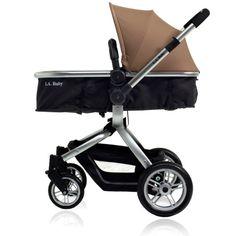 LA Baby Brown/ Black Red Oak Street Stroller