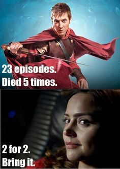 This is a lie... Clara Oswin Oswald was in more eppisodes... She didn't die in Victory To the Daleks...