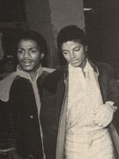 Marlon and Michael Jackson.