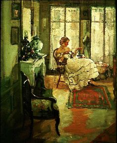 The Athenaeum - Sunny Morning (Richard Edward Miller - No dates listed)