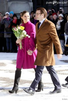 La princesse de Suède Victoria et le prince-consort Daniel.