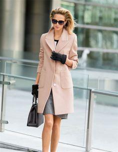 Kurzer Damen-Wollmantel mit Kaschmir in der Farbe perlmutt - gold, rosa - im MADELEINE Mode Onlineshop