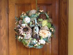 Windmill Birdhouse Spring/Summer Wreath by HertasWreaths on Etsy