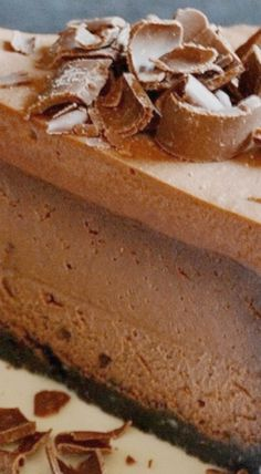 Chocolate Cheesecake with Chocolate Mousse Topping