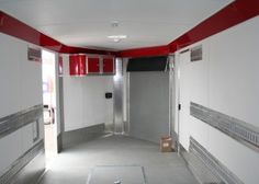 Red Interior raceways, cabinets, Grey Nudo Flooring, E-Track