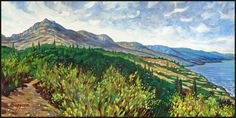 ALUSHTA. THE SUN-LIT MOUNTAIN CREST by Badusev on DeviantArt
