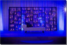 Romantic dim lit stage decor