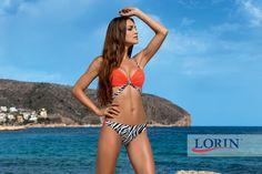 Strój kąpielowy Darla 5386: Dzikość afrykańskiej zebry i słoneczna pomarańcza. Lorin 2015