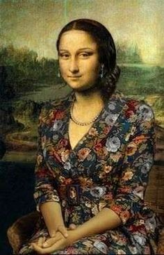 Mona Lisa with Mona Lisa Smile, Lisa Gherardini, Mona Friends, Arte Alien, Awkward Girl, La Madone, Mona Lisa Parody, Photoshop, Strong Women