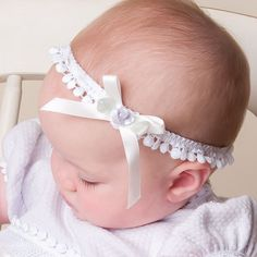 White Lace Baby Girl Headband