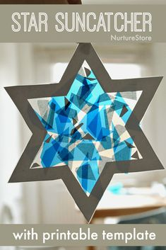 Easy Hanukkah craft for kids – star suncatcher – NurtureStore easy star craft for kids Hanukkah craft Hanukkah For Kids, Hanukkah Crafts, Jewish Crafts, Holiday Crafts, Kwanzaa, Toddler Crafts, Preschool Crafts, Kids Crafts, Arts And Crafts