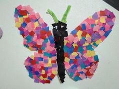 Students at this CCLC welcomed springtime by creating a butterfly mosaic. The students had fun creating their own interpretation for this art project. AGES: Preschool, Pre-K, and Kindergarten.