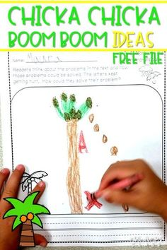 Chicka Chicka Boom Boom back to school ideas for kindergarten and first grade.  Reading, science, opinion writing, centers and more ideas.  EVEN a free file!