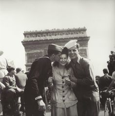 France. Celebrating the Victory, Paris, 1944 WWII