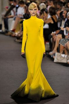 Chartreuse ombre gown