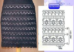 Fabulous Crochet a Little Black Crochet Dress Ideas. Georgeous Crochet a Little Black Crochet Dress Ideas. Crochet Dress Outfits, Black Crochet Dress, Crochet Skirts, Crochet Blouse, Crochet Clothes, Crochet Baby Dress Pattern, Crochet Chart, Tricot Simple, Diy Crafts Crochet