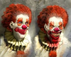 When an animal growls and shows it's teeth we say it is snarling.  When a clown smiles and shows his teeth we sing happy birthday.