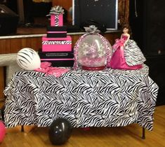 Quinceanera Zebra & Hot Pink Decoration Ideas | Party Ideas By Seshalyn