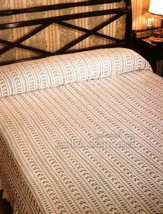 Crochet mile a minute bedspread ♥LCB-MRS♥ with diagram.
