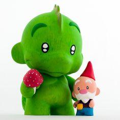 Fred & Ginger - custom Munny designertoys (Munnyworld by Kidrobot)