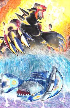 Omega Ruby and Alpha Sapphire by matsuyama-takeshi.deviantart.com on @deviantART (Groudon & Kyogre)