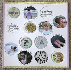Awesome layout by @Ali Edwards using her Technique Tuesday Summer Rocks stamp set. Lots of good stuff on here and I'm crazy about those circles!