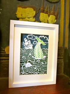 Papercut 'Creatures from the Deep', Papercutting, Papercut Keepsake, Papercut art, Wall Hanging on Etsy, $189.61 AUD