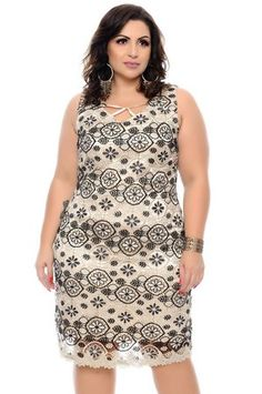 Vestido Plus Size Daliena - daluzplussize Plus Size Summer Fashion, Vestidos Plus Size, Moda Plus Size, Ideias Fashion, Stripes, Clothes For Women, Casual, Beautiful Roses, Outfits