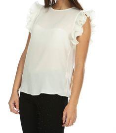 📌Beyaz Kolları Piliseli Fırfırlı Şifon Bluz 🏷29,94₺ ℹ️ 40, 42, 44 bedenleri mevcuttur. 🌏www.anindagiyim.com/urun/beyaz-kollari-piliseli-firfirli-sifon-bluz ☎️ 0212 438 73 25 ✅ Kapıda Ödeme ✅ Ücretsiz Kargo #moda #giyim #alışveriş #kadıngiyim #stil #trend #fashion #style #beyaz #şifonbluz #bluz #beyazbluz #pliselibluz #clothes #yenisezon #indirim #ücretsizkargo #model Ruffle Blouse, Tops, Women, Fashion, Women's, La Mode, Fashion Illustrations, Fashion Models
