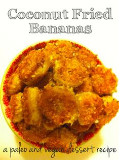Coconut Fried Bananas Ingredients two bananas (ripe but not mushy) cup shredded unsweetened coconut teaspoon ground cinnamon (optional) tablespoons coconut oil (may need more depending on the size of your skillet) Healthy Vegan Dessert, Coconut Dessert, Cake Vegan, Oreo Dessert, Vegan Dessert Recipes, Healthy Sweets, Paleo Recipes, Delicious Desserts, Healthy Snacks
