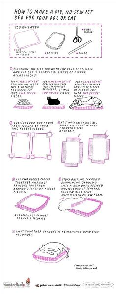 How to Make an Easy No-Sew Pet Bed for Your Cat or Dog « The Secret Yumiverse