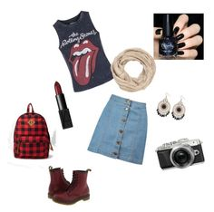 """""""Casual"""" by serena-rupp ❤ liked on Polyvore featuring Boohoo, Topshop, NARS Cosmetics, Dr. Martens, maurices and Forever 21"""