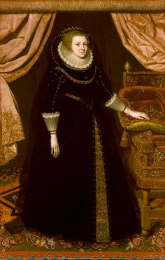 Portrait of Elizabeth Vernon, Countess of Southampton, by school of Marcus Gheeraerts the Younger. ©Glasgow Museums, supplied by the Public Catalogue Foundation Southampton, Vernon, 1500s Fashion, Isabel I, Glasgow Museum, Elizabethan Fashion, Empire, Elizabeth I, Fashion Catalogue