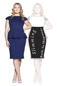 Michelle Dress with SSSlip technology that Smooths, Shapes and Slims. Shop now at patriciaotoole. Classic Outfits, Shapewear, Peplum Dress, Shop Now, Slim, Shapes, Technology, Clothes For Women, Book