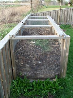 This is kin of what we have going on, except on a bigger scale because we have so much horse manure.  We need to also build a ramp to dump the manure instead of mucking and then having to shovel it out again into the compost... It's a work in progress...