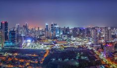 Panorama Panama city at night. by Felipe Chung on 500px