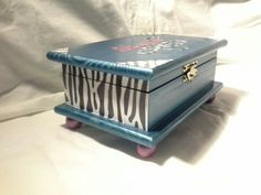 Wood Crafts- Beautiful topaz , zebra design box by Enchanted Giftss  on Etsy- sold.