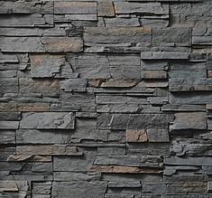 Cultured Stone Pro-Fit Ledgestone Gray Stone Veneer - The Brickyard House Paint Exterior, Exterior Paint Colors, Wall Exterior, Yellow Accent Walls, House Paint Color Combination, Light Gray Paint, Stone Interior, Kitchen Wall Colors, Exterior Cladding