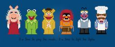 The Muppet Show TV Characters - Digital PDF Cross Stitch Pattern
