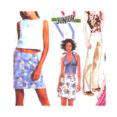 McCalls 3501 Pattern Junior Halter Tops Low by SadieBellsCrafts, $4.89