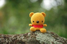 Crochet Pooh Bear by Amigurumi Creations.