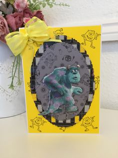 Disney Monsters, Monsters Inc, Lace Design, Cards, Color, Map, Colour, Playing Cards, Maps
