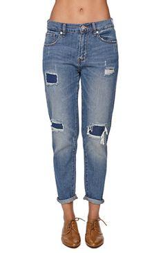 Bullhead Denim Co Mid Rise Patch Boyfriend Jeans #pacsun