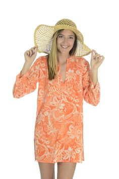ffbe8c9d423 Hiho Voile Cotton Printed Caribbean Style Beach Cover Up