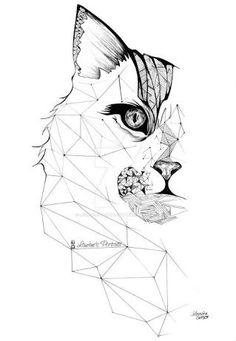 cat geometric - Google Search More